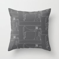 Sewing Machine Throw Pillow