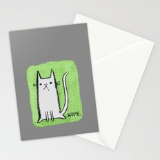 Nope Kitty Stationery Cards