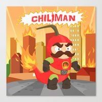 Chiliman Canvas Print