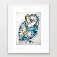 The Sea Glass Owl Framed Art Print