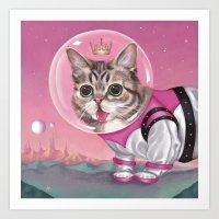 Supersonic Space Princess Art Print