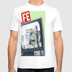 OUR AWESOME FUTURE Mens Fitted Tee SMALL White