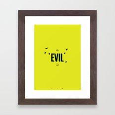 The Evil Cat  Framed Art Print