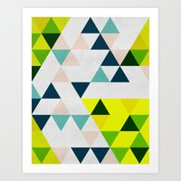 Triangles 1 Art Print