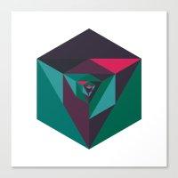 #240 Implosion – Geome… Canvas Print