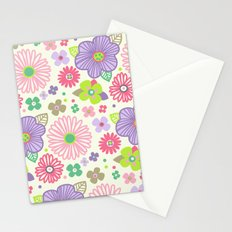 happy flowers Stationery Cards