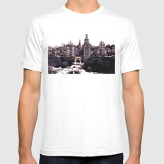 Funkytown - New York City Mens Fitted Tee SMALL White