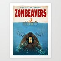 Zombeavers Art Print