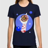 Moon Womens Fitted Tee Navy SMALL