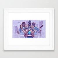 WW HOCKEY TEAM Framed Art Print