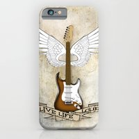 iPhone & iPod Case featuring Live Life Loud by Cathie Tranent