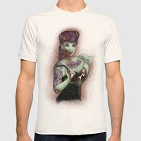 Zombie Pinup Mens Fitted Tee Natural SMALL