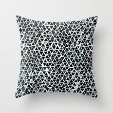 Black Triangles Pattern … Throw Pillow
