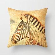 Zebra Dreams Throw Pillow