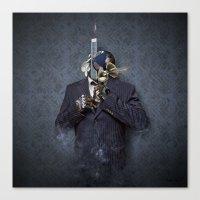 Mister Blue Canvas Print