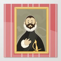 Nobleman with his Hand on his Chest by Greco Canvas Print