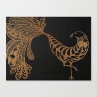 Golden Bird #2 Canvas Print