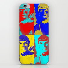 Science Officer Spock (Andy Warhol Remix) iPhone & iPod Skin