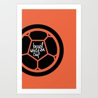Brazil World Cup 2014 - Poster n°2 Art Print
