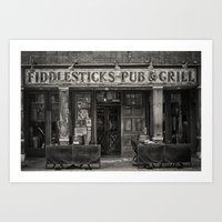 Fiddlesticks Pub Art Print