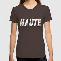 Haute - High Fashion Inv… Womens Fitted Tee Brown SMALL