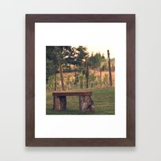 Bench Framed Art Print