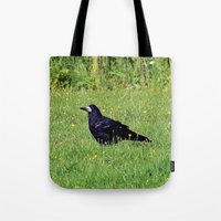 crow on the green Tote Bag