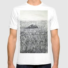 THE SOUND OF SILENCE Mens Fitted Tee SMALL White