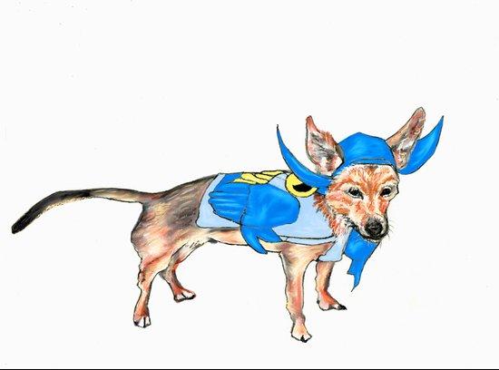 BatDog Art Print