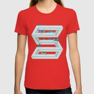 The Impossible Pursuit  Womens Fitted Tee Red SMALL