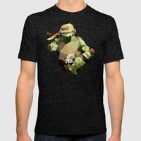 Polygon Heroes - Michelangelo Mens Fitted Tee Tri-Black SMALL