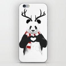 Xmas panda iPhone & iPod Skin