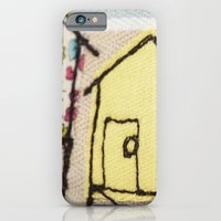 Embroidered Beach huts iPhone 6 Slim Case