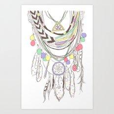Tribal Necklace Art Print