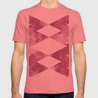 RED ROCK Mens Fitted Tee Pomegranate SMALL