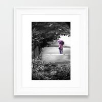Down Framed Art Print