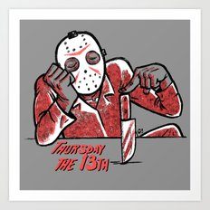 Thursday the 13th Art Print