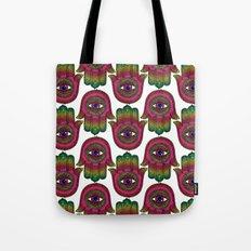 Hamsa: Made by a rainbow Tote Bag