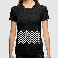 Black Lodge Dreams (Twin Peaks) Womens Fitted Tee Tri-Black SMALL