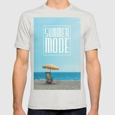 Summer mode Mens Fitted Tee Silver SMALL