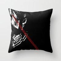 Predator Black And White Throw Pillow
