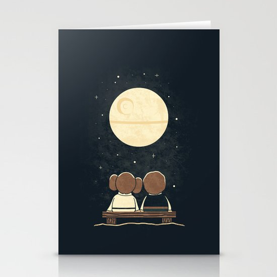 Moon Gazing Stationery Card