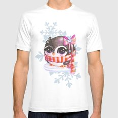 Snowy penguin  White SMALL Mens Fitted Tee