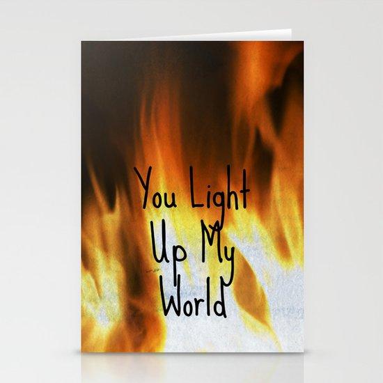 You Light Up My World Stationery Card