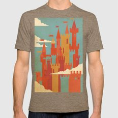 Castles  Mens Fitted Tee Tri-Coffee SMALL