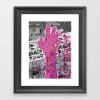 Zombie Reach Framed Art Print
