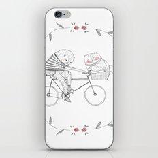 bicycle cat iPhone & iPod Skin