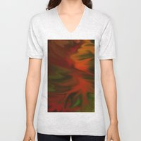 Flaming Red Unisex V-Neck