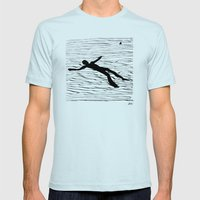 La Mer Mens Fitted Tee Light Blue SMALL