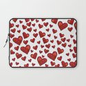 Hearts Motif Laptop Sleeve